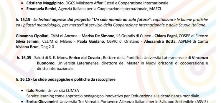 Educare alla cittadinanza mondiale e alla cooperazione internazionale: il miglior investimento per il futuro | Il programma del seminario nazionale