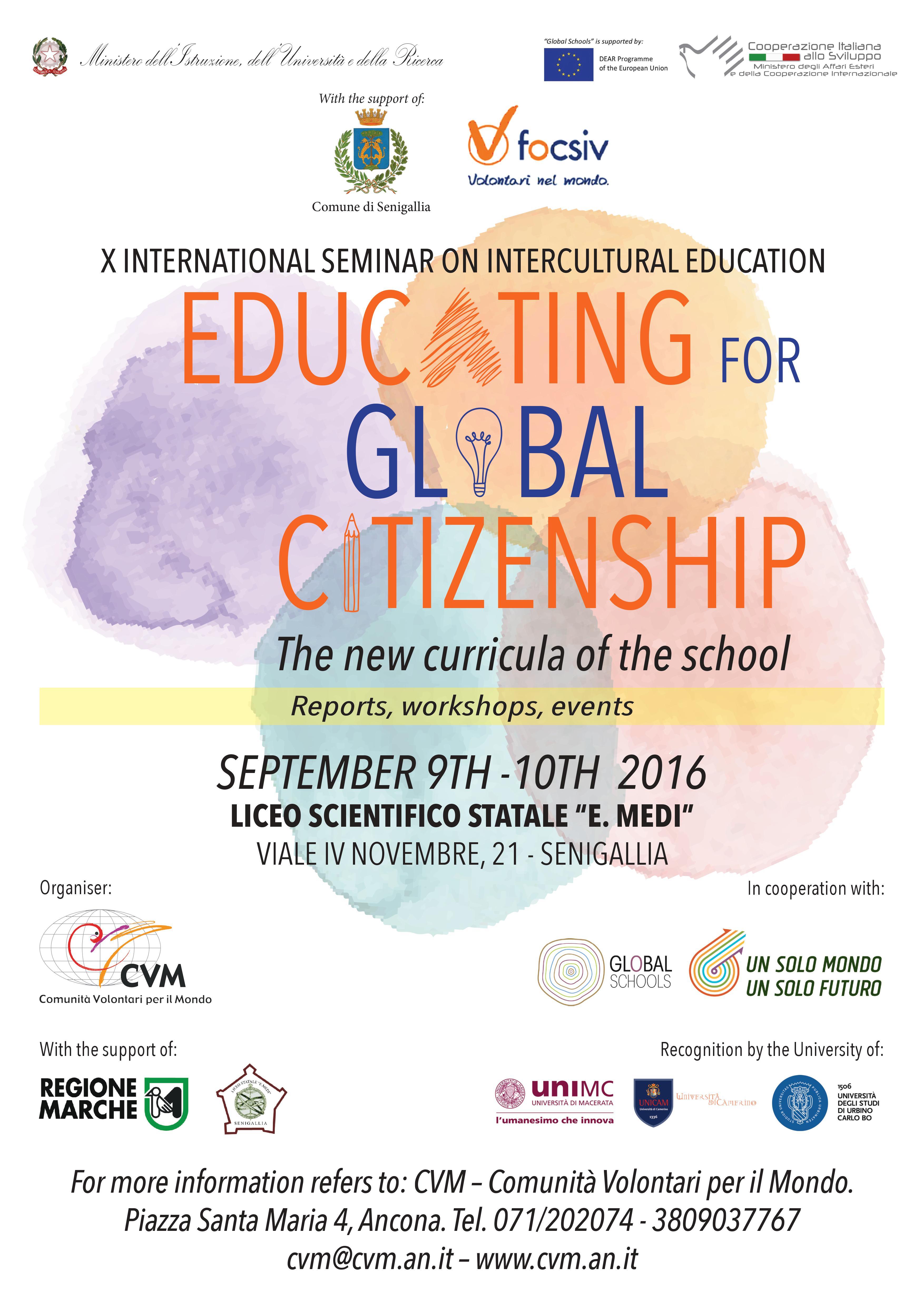 Manifesto - X International Seminar on Intercultural Education