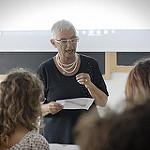 Giovanna Cipollari, impegnata in un laboratorio dell'edizione 2015 del Seminario
