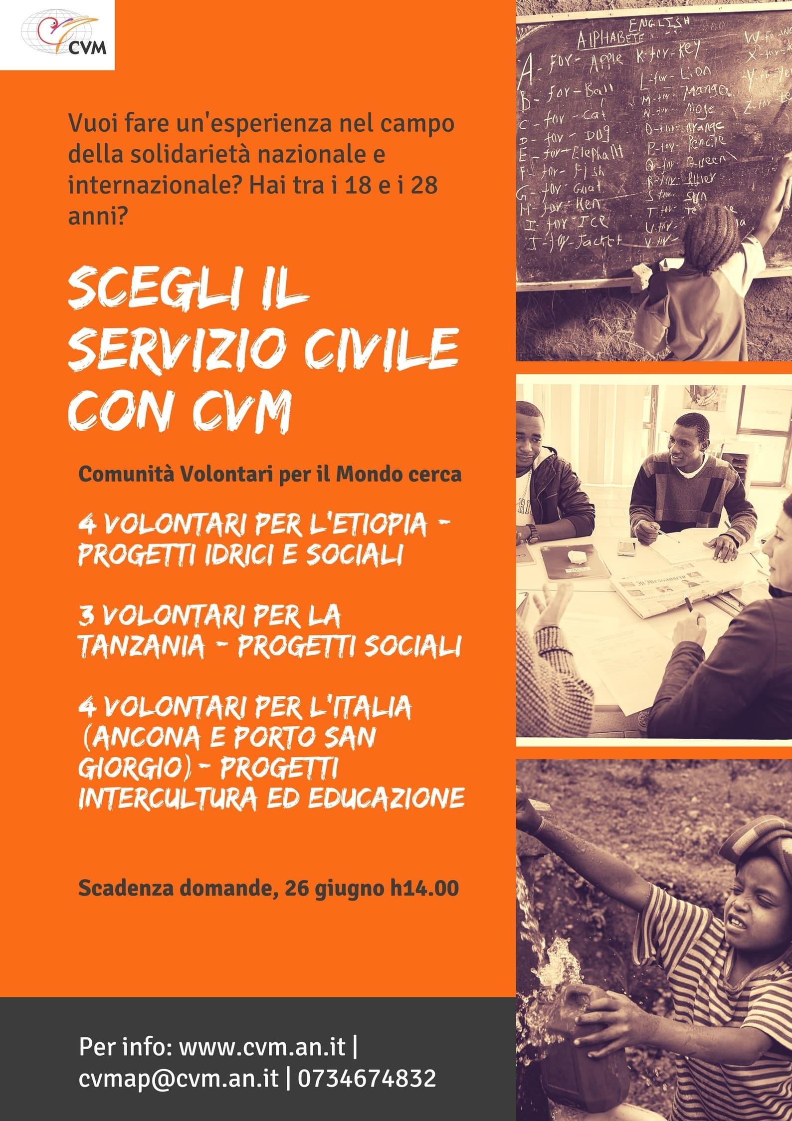Italia, Etiopia e Tanzania | I progetti CVM per il Servizio civile nazionale