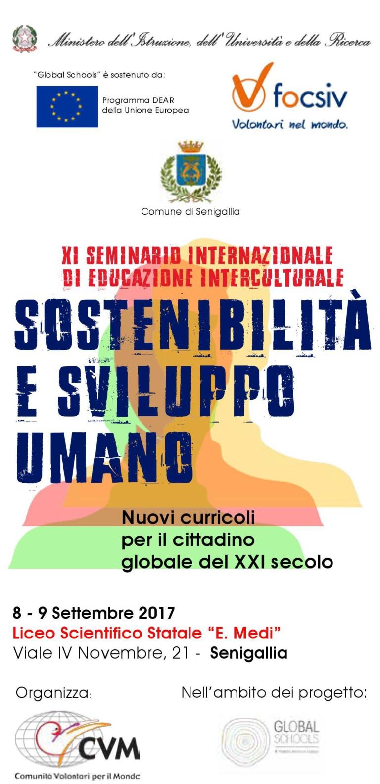 XI Seminario internazionale di educazione interculturale | Sostenibilità e sviluppo umano | Nuovi curricoli per il cittadino globale del XXI secolo