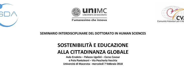 Seminario: SOSTENIBILITÀ E EDUCAZIONE  ALLA CITTADINANZA GLOBALE